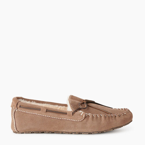 Roots-Gifts Holiday X Arielle & Leah-Womens Moc Slipper-Fawn-A