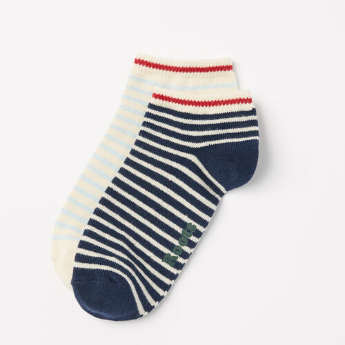 Roots-Women Socks-Womens Cape Breton Ped Sock 2 Pack-Navy Mix-A