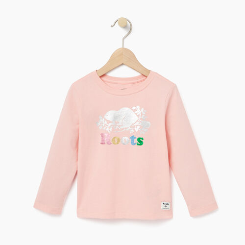 Roots-Winter Sale Toddler-Toddler Foil Cooper Beaver T-shirt-Light Pink-A