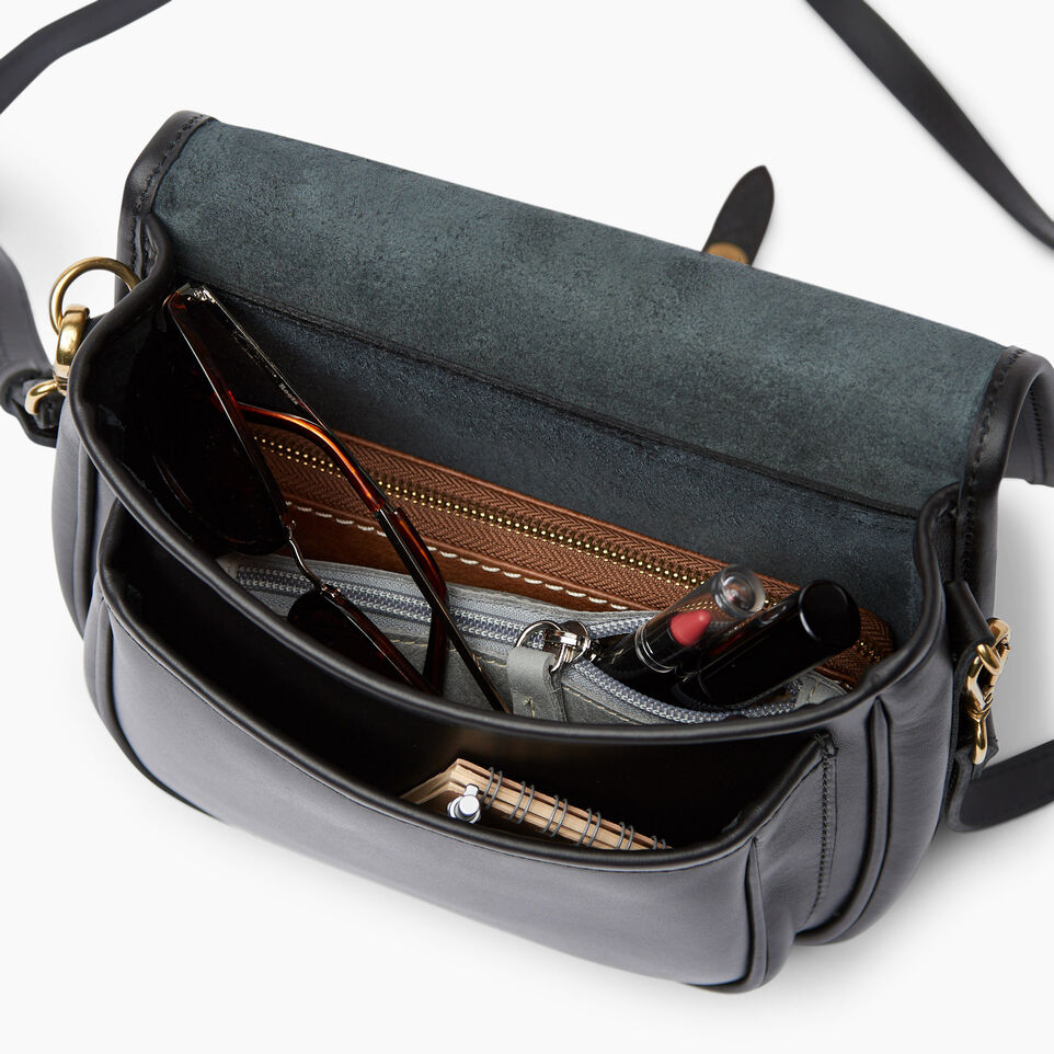Roots-Leather  Handcrafted By Us Handbags-Medium English Saddle Heritage-Black-D