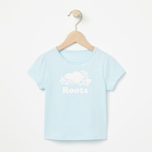 Roots-Winter Sale Baby-Baby Cooper Beaver Puff T-shirt-Chambray Blue-A