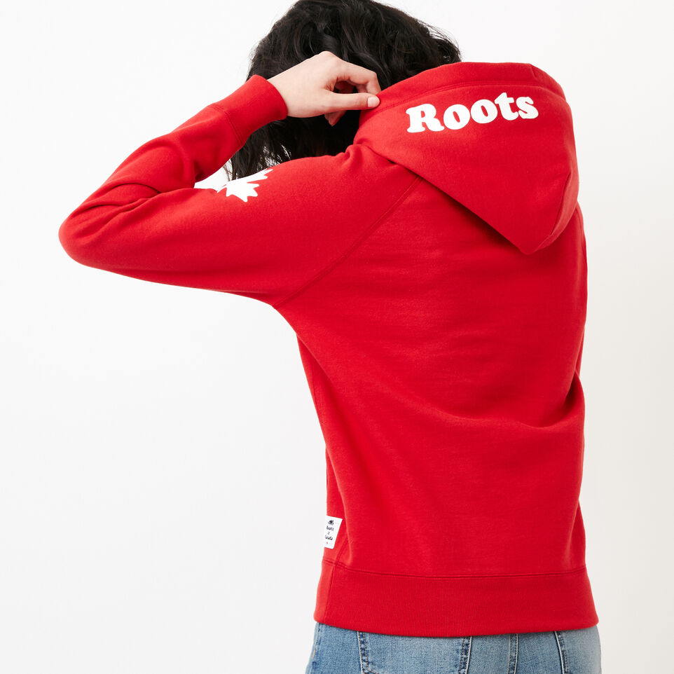 Roots-Women Categories-Womens Cooper Canada Hoody-Sage Red-D