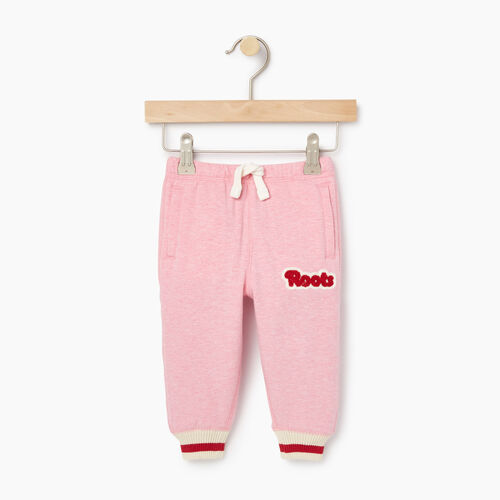 Roots-Kids Bestsellers-Baby Cabin Sweatpant-Sea Pink Mix-A