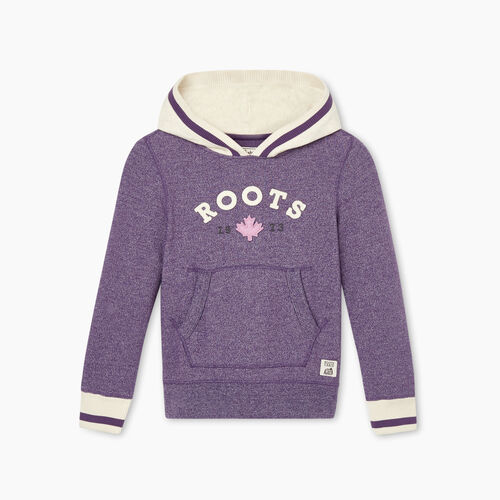 Roots-Kids Girls-Girls Cabin Cozy Kanga Hoody-Loganberry Pepper-A