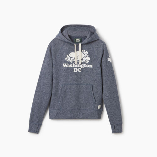 Roots-Sweats Women-Washington DC Kanga Hoody - Womens-Blue Iris Pepper-A