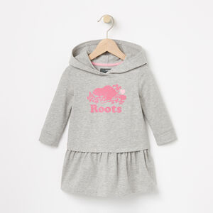 Roots-Kids Baby-Baby Morgan Hooded Dress-Grey Mix-A