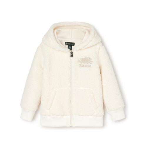 Roots-Kids Our Favourite New Arrivals-Toddler Sherpa Fleece Full Zip Hoody-Natural-A