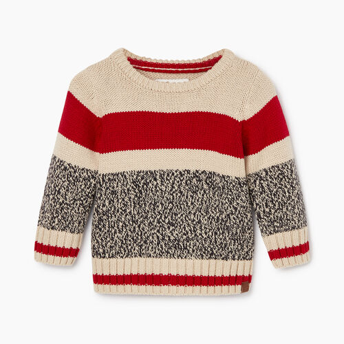 Roots-Kids Our Favourite New Arrivals-Baby Roots Cabin Crew Sweater-Grey Oat Mix-A