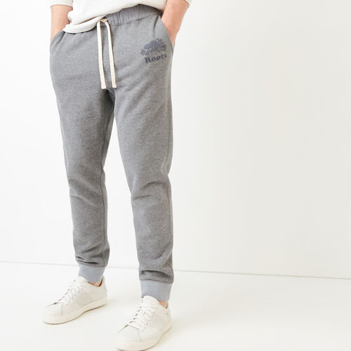 Roots-Men Our Favourite New Arrivals-Cooper Slim Training Pant-Dark Quarry Mix-A
