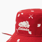 Roots-Kids Toddler Boys-Toddler Canada Aop Bucket Hat-Red-C