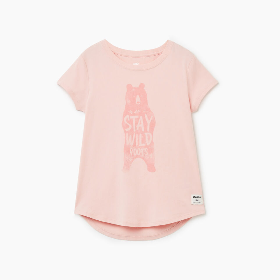 Roots-undefined-T-shirt Animal pour filles-undefined-A