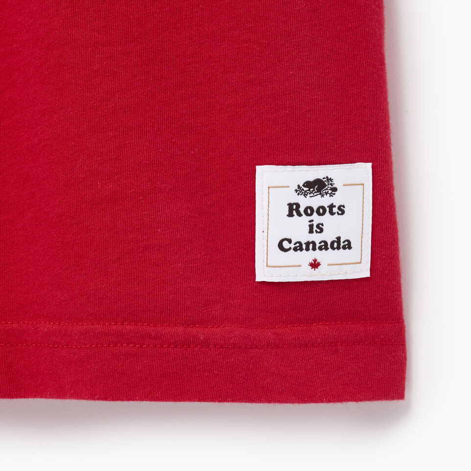 Roots-Men Canada Collection By Roots™-Mens Blazon T-shirt-Sage Red-C