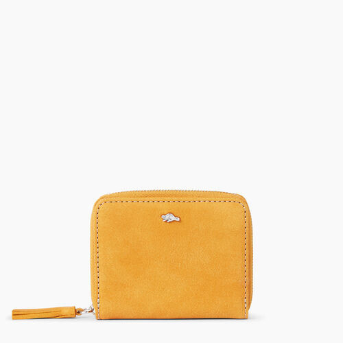 Roots-Winter Sale Leather Bags & Accessories-Small Tassel Wallet Tribe-Sunset Yellow-A