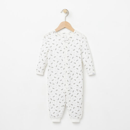 Roots-Kids Rompers & Onesies-Baby's First Roots Sleeper-Cloudy White-A