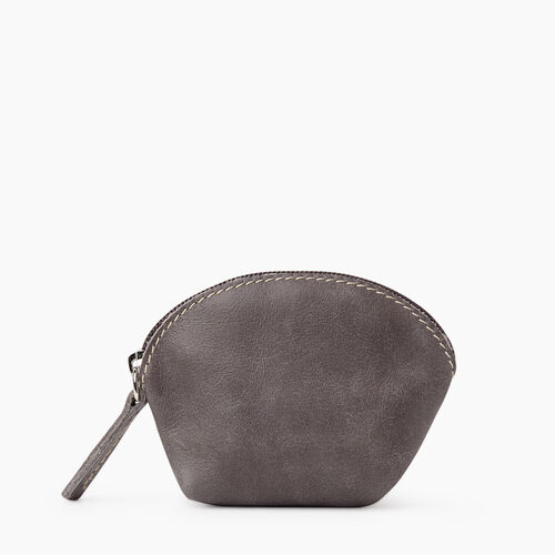 Roots-Leather Tech & Travel-Small Euro Pouch Tribe-Charcoal-A