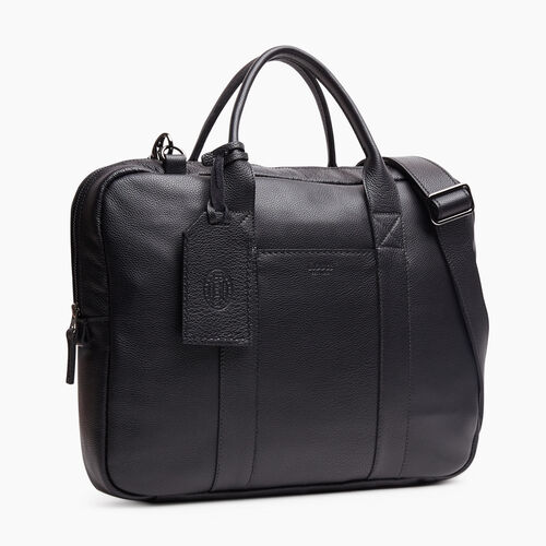 Roots-Leather New Arrivals-Wellington Laptop Bag Cervino-Black-A