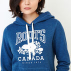Roots-Women Tops-Classic Kanga Hoody-Olympus Blue Mix-E