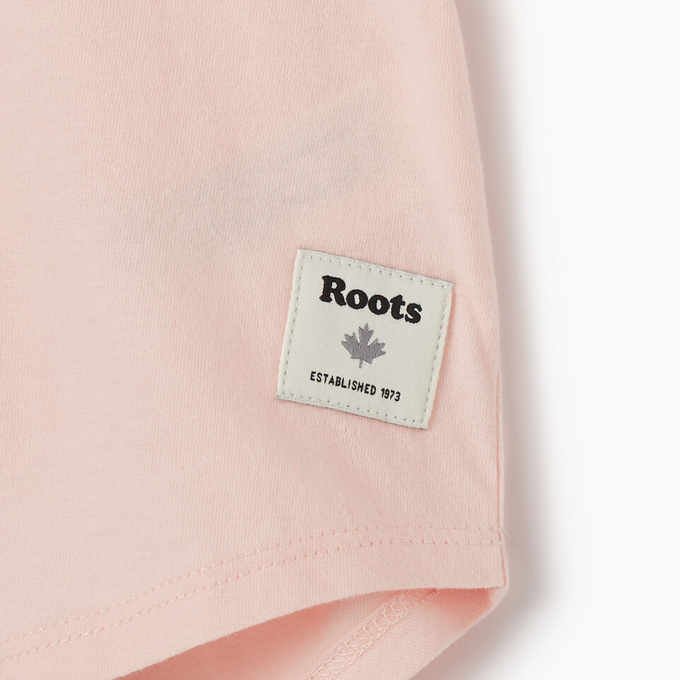 Roots-Kids New Arrivals-Girls Roots Pride T-shirt-English Rose-D