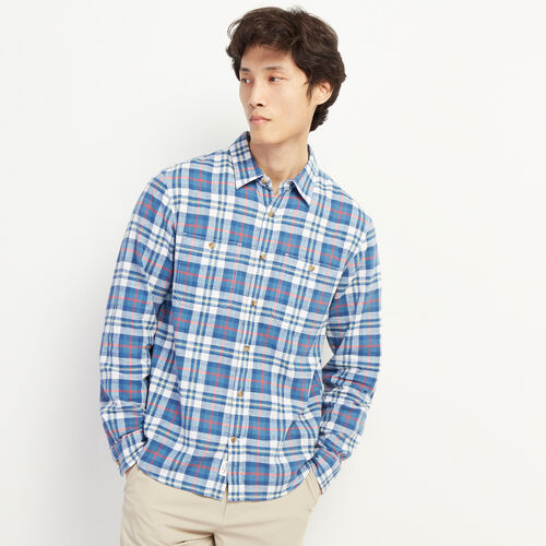 Roots-Sale Tops-Mattawa Linen Work Shirt-Indigo-A