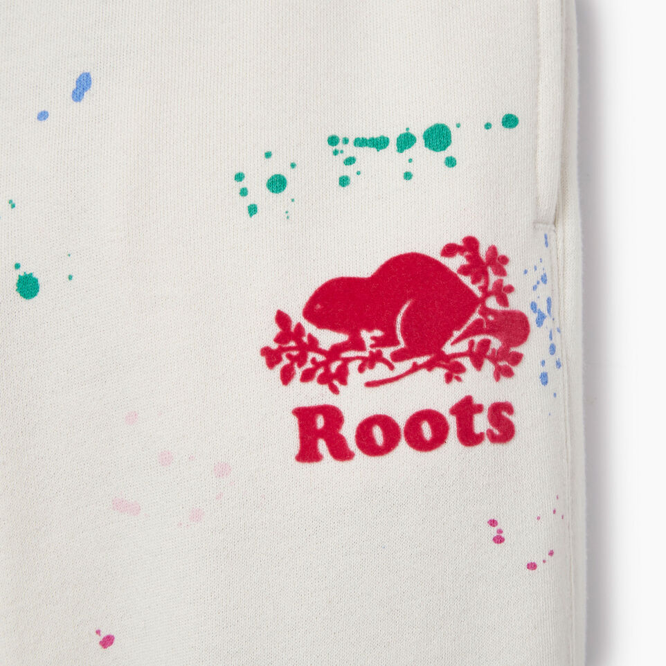 Roots-Kids Our Favourite New Arrivals-Girls Splatter Sweatpant-Cannoli Cream-D