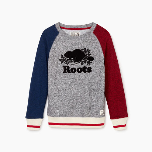 Roots-Kids Our Favourite New Arrivals-Boys Roots Cabin Crew Sweatshirt-Active Blue Pepper-A