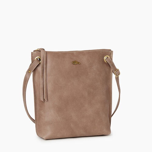 Roots-Leather  Handcrafted By Us Handbags-Festival Bag Tribe-Fawn-A