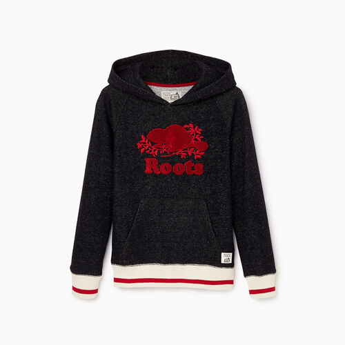 Roots-New For October Kids-Boys Roots Cabin Kanga Hoody-Black Pepper-A