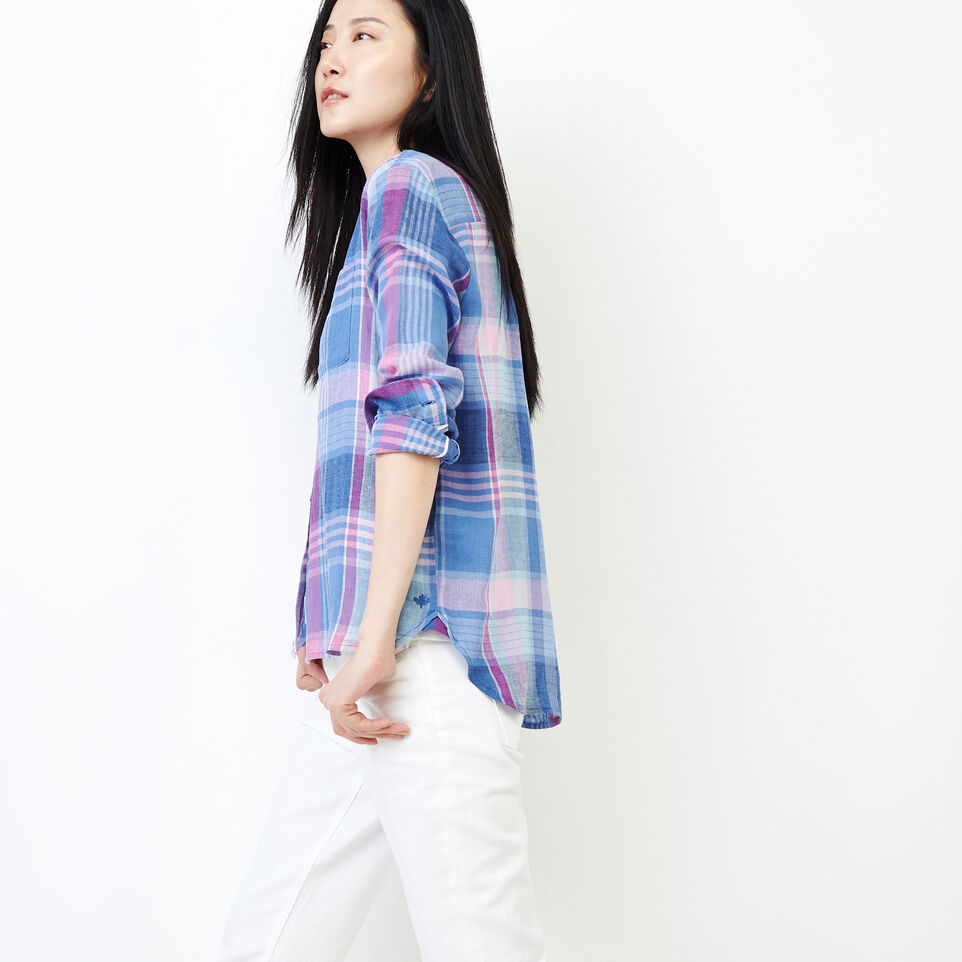 Roots-undefined-Relaxed Plaid Shirt-undefined-C