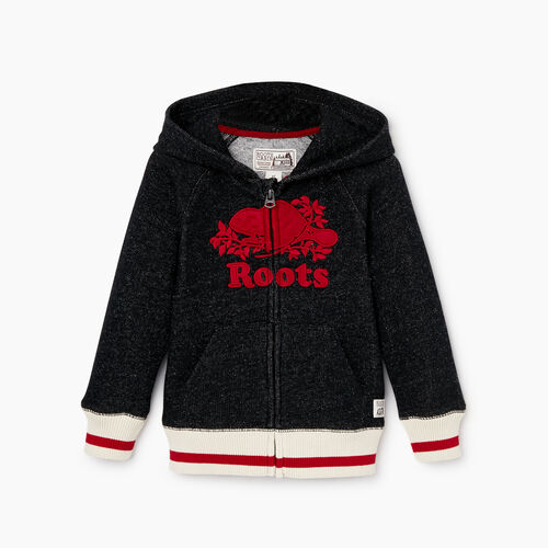 Roots-Kids Toddler Boys-Toddler Roots Cabin Zip Hoody-Black Pepper-A