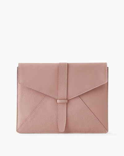 Roots-Leather Tech & Travel-Document Sleeve Cervino-Pink Pearl-A