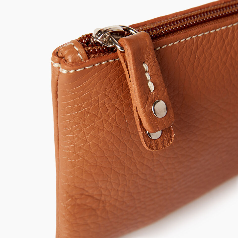 Roots-Leather  Handcrafted By Us Our Favourite New Arrivals-Medium Zip Pouch-Caramel-D