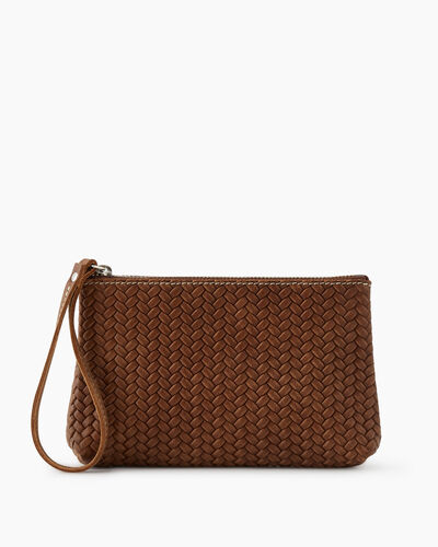 Roots-Leather New Arrivals-Wristlet Pouch Woven-Natural-A