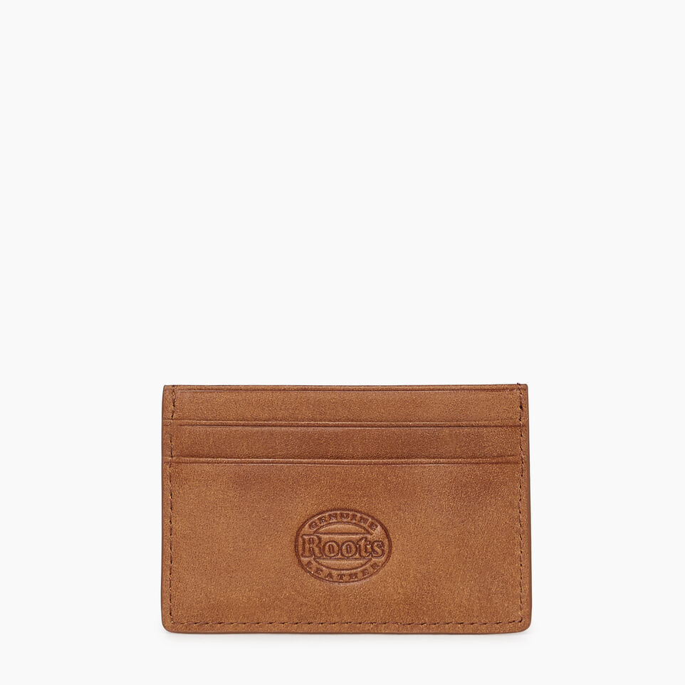 Roots-Leather  Handcrafted By Us Our Favourite New Arrivals-Card Holder Tribe-Natural-B