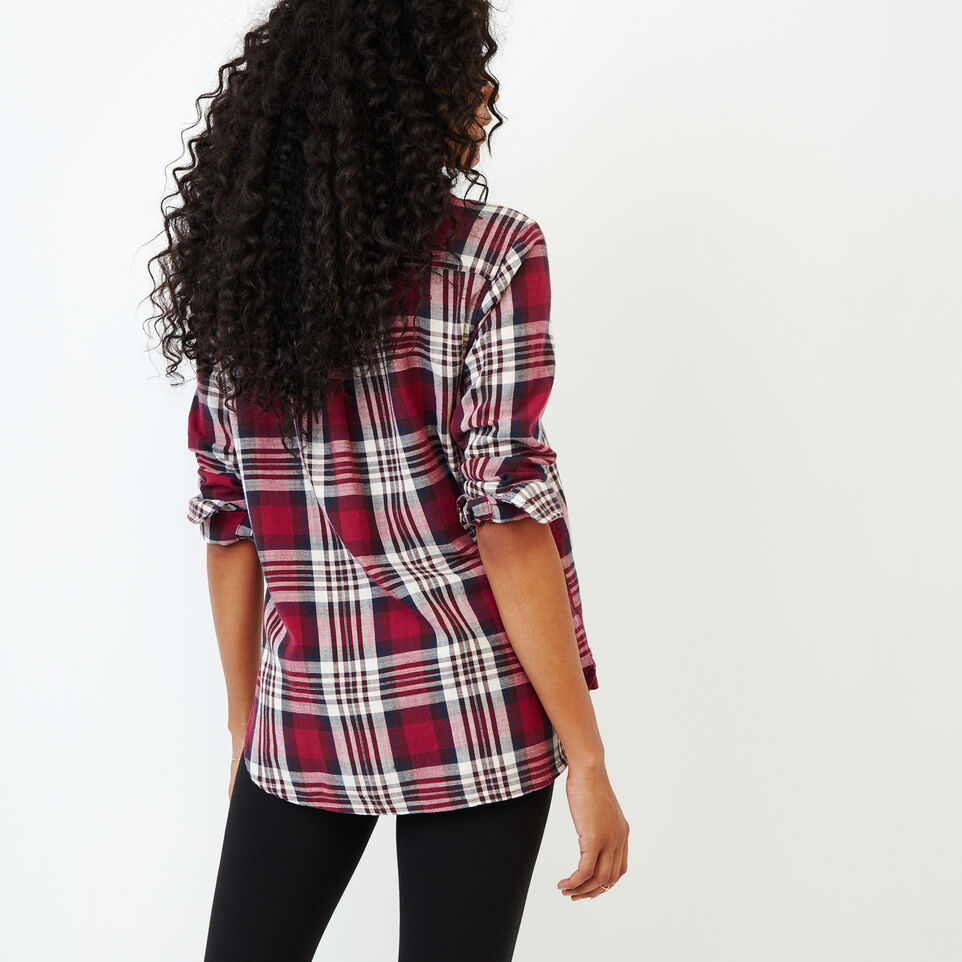 Roots-Women Categories-All Seasons Relaxed Shirt-Tibetan Red-D