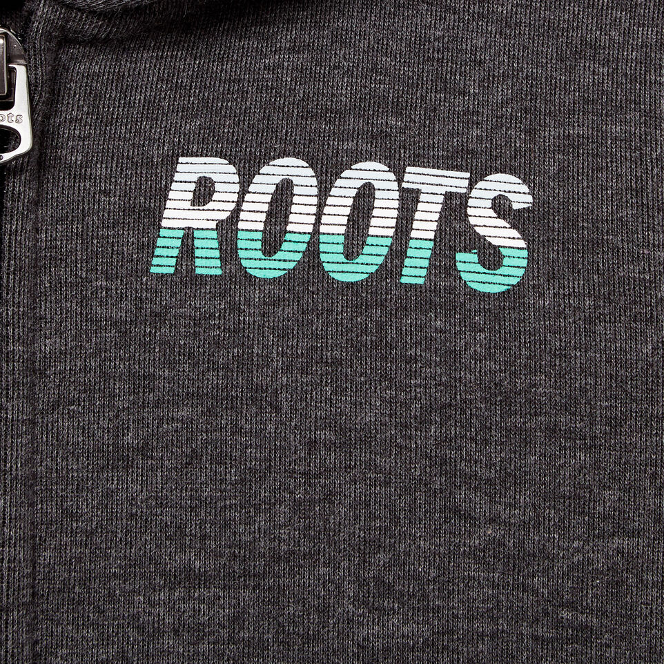 Roots-Kids Our Favourite New Arrivals-Toddler Roots Speedy Full Zip Hoody-Charcoal Mix-D