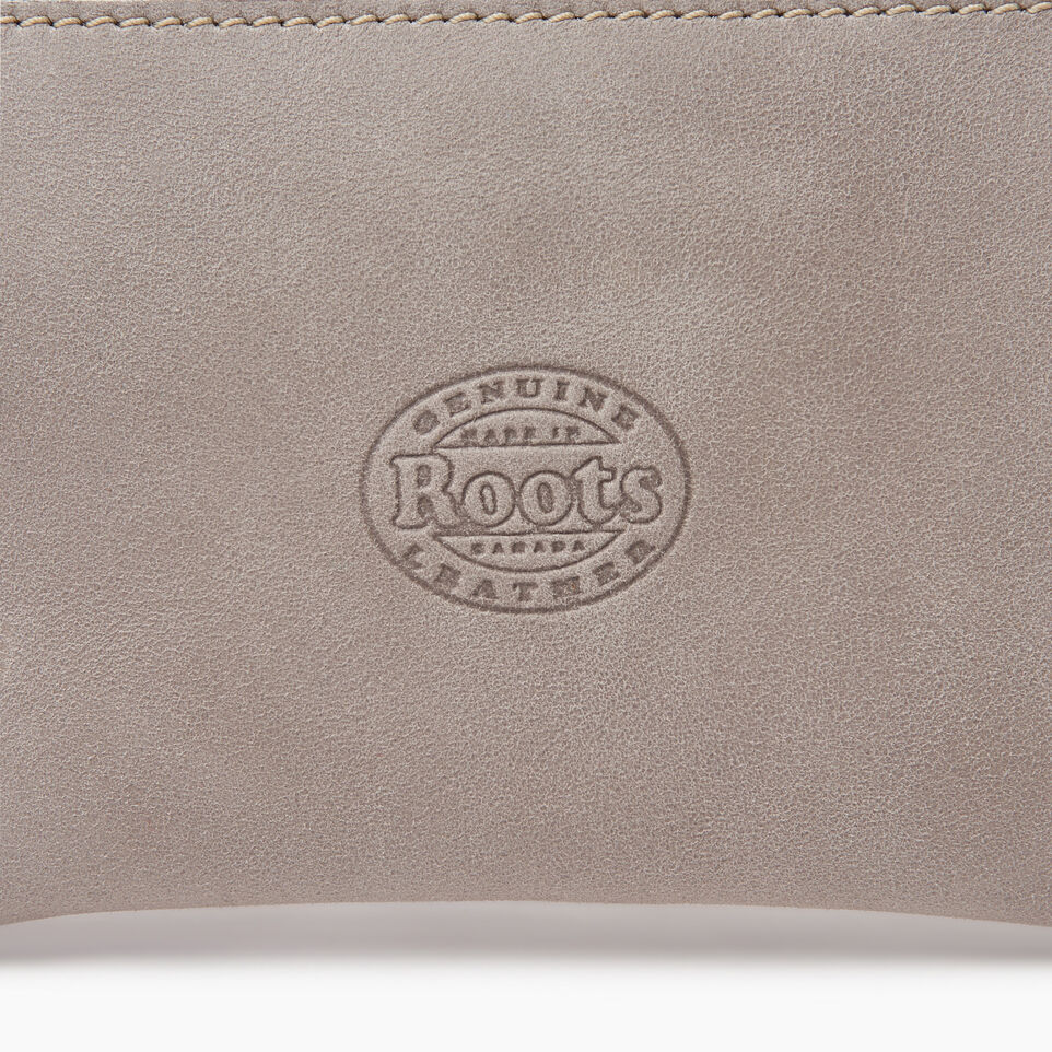 Roots-Leather Leather Accessories-Medium Zip Pouch-Sterling Grey-C
