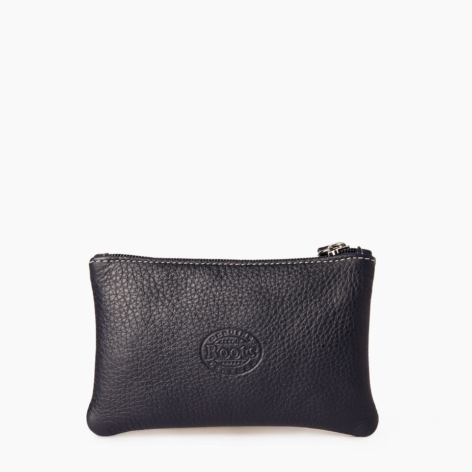 Roots-Leather Our Favourite New Arrivals-Medium Zip Pouch-Ultramarine-C