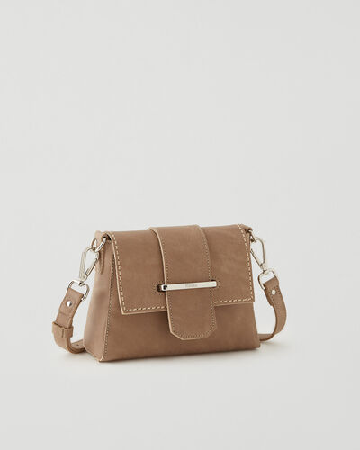 Roots-Leather Leather Bags-Mini Phoebe Bag Tribe-Sand-A