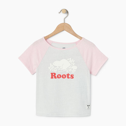 Roots-Kids Toddler Girls-Toddler Cooper Beaver Raglan Top-Pink Mist-A