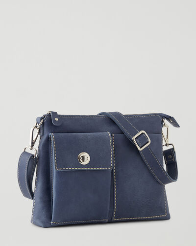 Roots-Women Roots Original Flat Bags-The Villager Tribe-Denim Blue-A