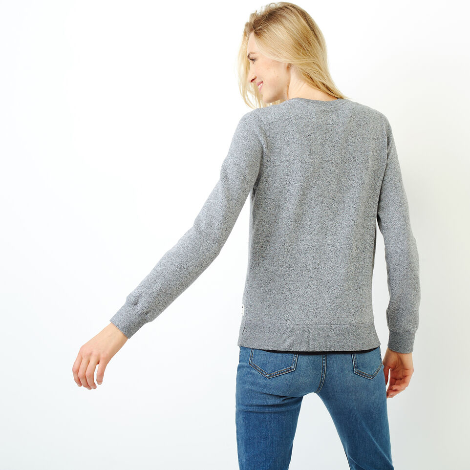Roots-Women Tops-Buddy Cozy Crew Sweatshirt-Salt & Pepper-D