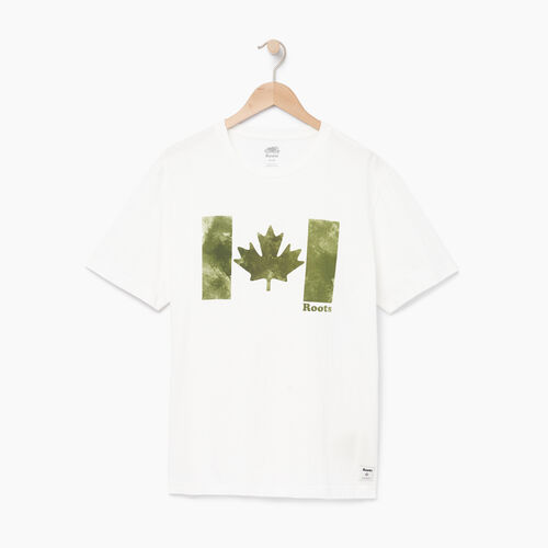 Roots-Men Categories-Mens Watercolour Flag T-shirt-Ivory-A