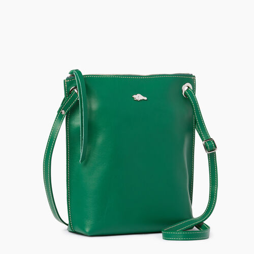 Roots-Leather  Handcrafted By Us Handbags-Festival Bag-Emerald-A