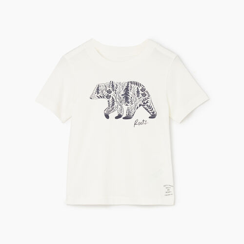 Roots-Kids Tops-Toddler Woodland Animal T-shirt-Natural-A