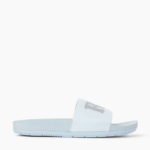 Roots-Footwear Women's Footwear-Womens Long Beach Pool Slide-Baby Blue-A