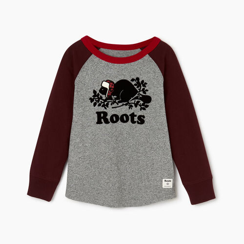 Roots-Kids Toddler Boys-Toddler Buddy Raglan T-shirt-Crimson-A
