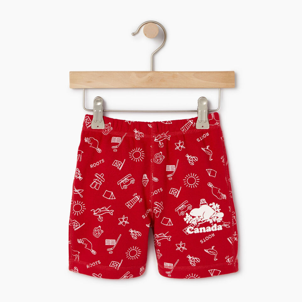 Roots-Kids Our Favourite New Arrivals-Toddler Canada Roots Aop Short-Sage Red-A