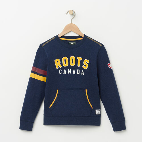 Roots-Kids Boys-Boys Walden Varsity Crew-Cascade Blue-A