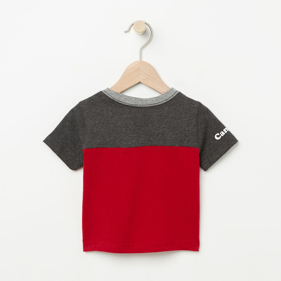 Roots-undefined-Baby Canada Colourblock T-Shirt-undefined-B