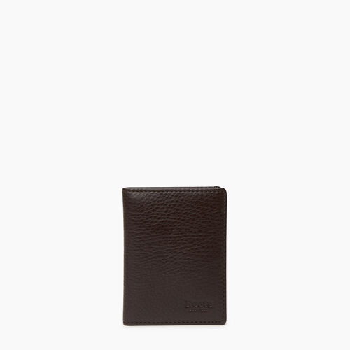 Roots-Leather Our Favourite New Arrivals-Card Case With Id-Chocolate-A